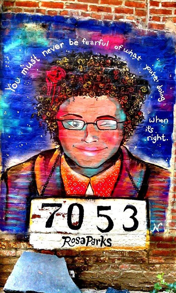 Rosa Parks street art