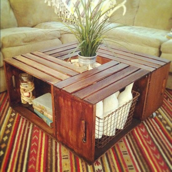 Today on the Boards A DIY Crate Coffee Table SWAY