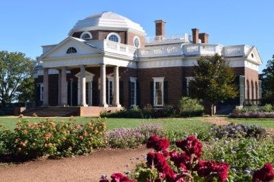 this common view of Monticello is actually the back of the house - Picture of Thomas Jefferson's ...