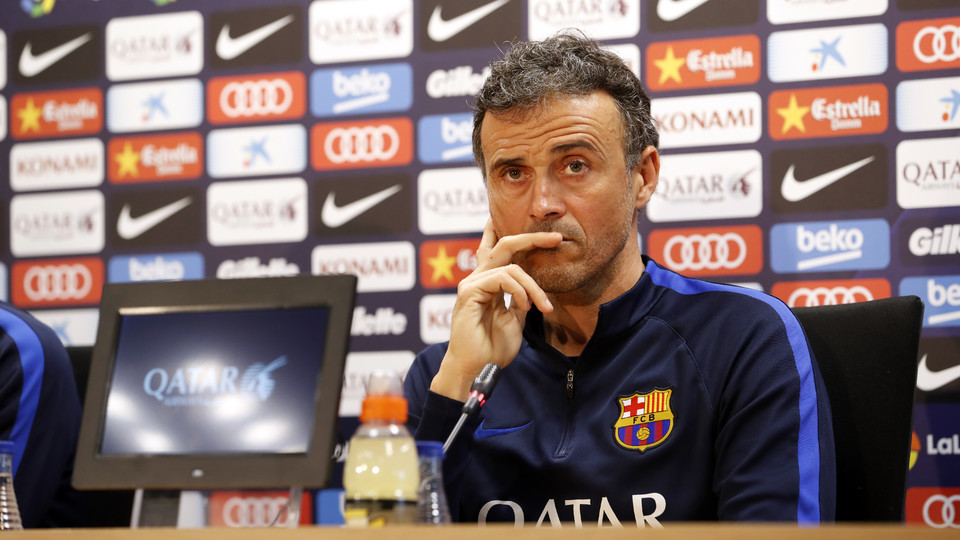 FC Barcelona's Luis Enrique: 'I trust my players' experience, they know there is a lot at stake ...