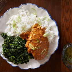 West african food dream wedding ideas around the world recipe west african peanut chicken with sauted kale rice blue forumfinder Image collections