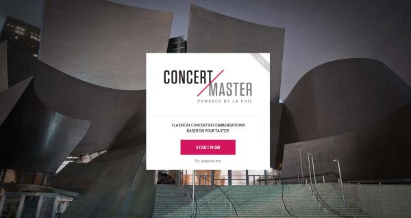 Concert Master screen
