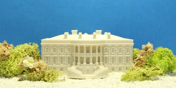 3D printing firm MakerBot participated in the #NationofMakers and  Day of Making in conjunction with the White House Maker Faire.  This 3D printed model of the White House was created and 3D printed by the MakerBot Studio in-house design team.