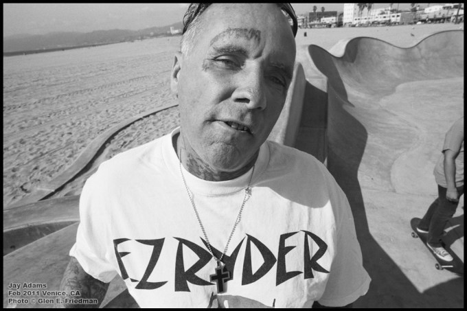 Jay Adams at the Venice skate park, Los Angeles, 2011: Glen E. Friedman