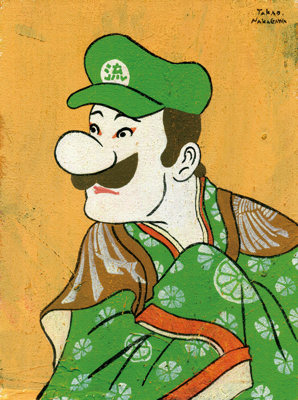 "Ukiyoe Character series 27 ""Super Mario Bros"", 2014"