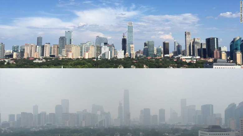 This is how blue the skies were when Beijing banned 2.5 million cars for two weeks