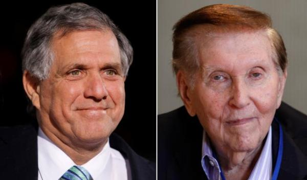 Les Moonves and Sumner Redstone. REUTERS