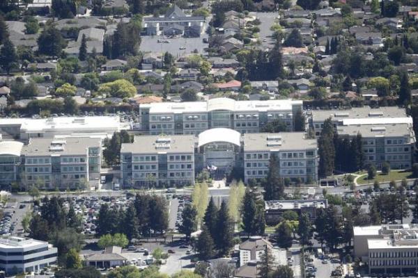 Apple's headquarters on Infinity Loop is seen in Cupertino.  REUTERS/Noah Berger