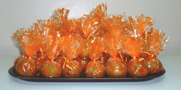 Laddu, a popular South Asian sweet, packed for a wedding [Wikipedia]