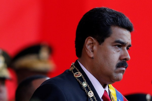 Venezuela's President Nicolas Maduro at a military parade.  June 24, 2016. REUTERS