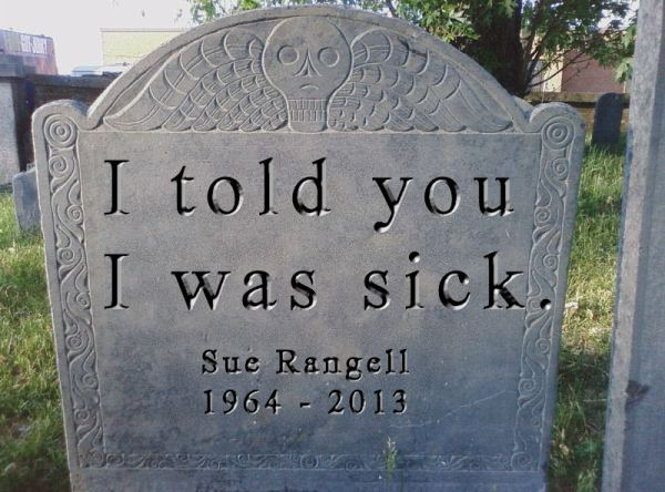 A_tombstone_with_Sue_Rangell's_name_on_it_(joke)