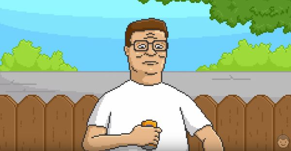 pixel art hank hill