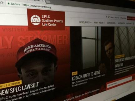 SPLC website screenshot
