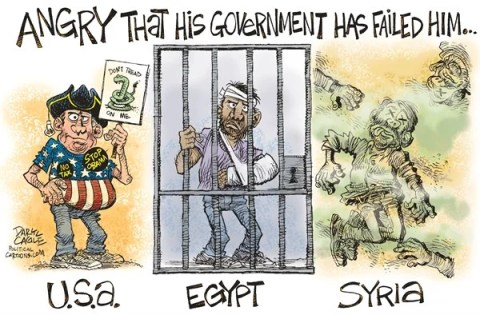Daryl Cagle - CagleCartoons.com - Government Failed Him COLOR - English - Syria,Egypt,Tea Party,nerve,gas,Bashar Assad,chemical weapons