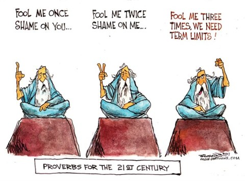 Bill Schorr - Cagle Cartoons - term limits - English - term limits, congress,