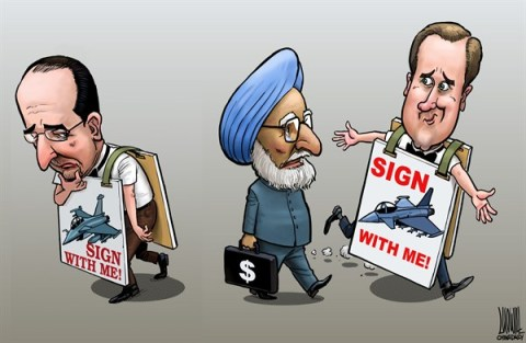 Luojie - China Daily, China - sign with me - English - UK,India,France,Fighter,Contract,Cameron,Hollande,Singh