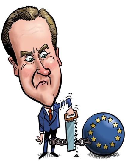 Luojie - China Daily, China - Cameron illustration - English - UK,withdraw,Saws,EU,Cameron,Chain