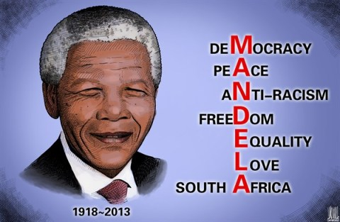Luojie - China Daily, China - MANDELA - English - MANDELA,democracy,peace,anti-racism,freedom,equality,love,South Africa