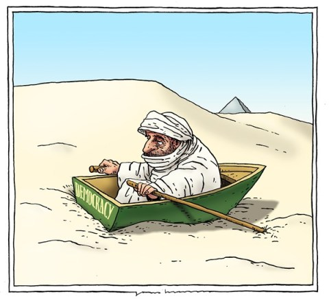 Joep Bertrams - The Netherlands - hard job - English - egypt, democracy, morsi,protest, desert, boat