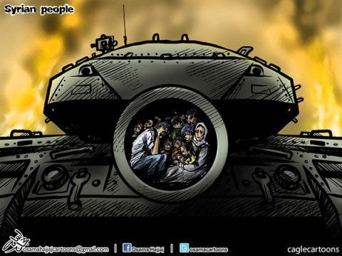Osama Hajjaj - Jordan - Syrian People - English - syria, syrian war,tank,war,syrian people