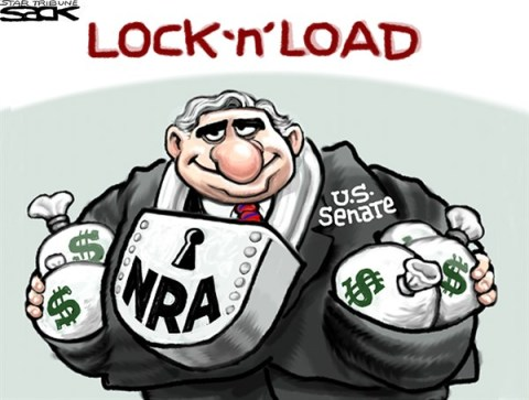 Steve Sack - The Minneapolis Star Tribune - Senate Gun Fail COLOR - English - guns, NRA, Senate, Congress