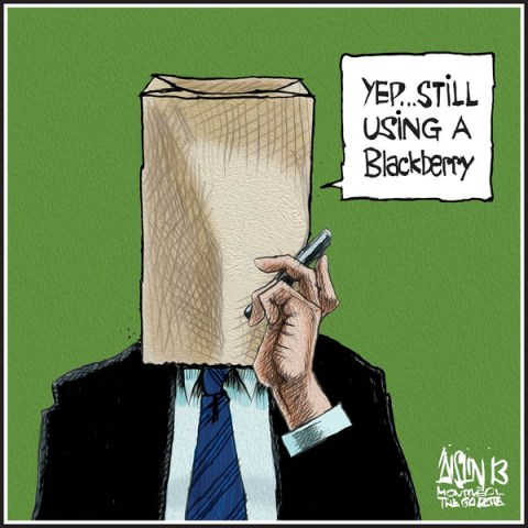Aislin - The Montreal Gazette - Blackbery - English - Blackberry