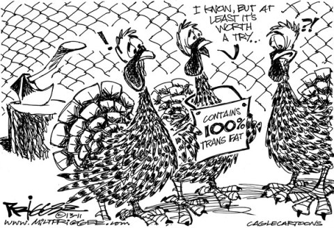 Milt Priggee - www.miltpriggee.com - Trans Fat - English - trans fat, thanksgiving, turkey