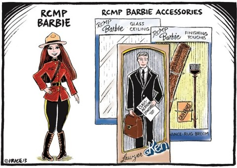 137993 600 RCMP Barbie cartoons