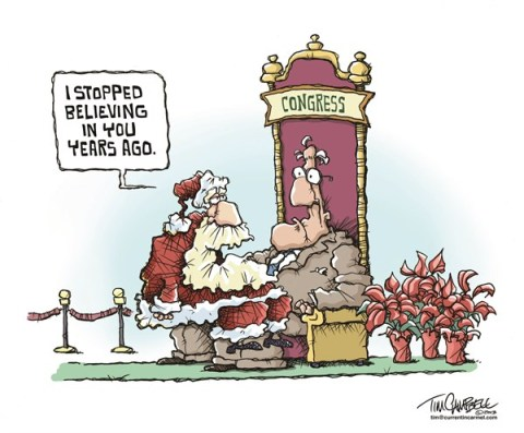 Tim Campbell - Indianapolis - Santa and Congress - English - Christmas, Santa Claus, Congress, Approval