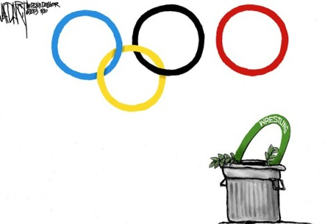 Jeff Darcy - The Cleveland Plain Dealer - Olympic wrestling gets pinned - English - Olympics,wrestling,IOC