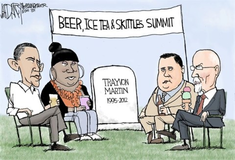 Jeff Darcy - The Cleveland Plain Dealer - Obama Beer Summit II - English - Trayvon Martin, Zimmerman verdict, Obama Beer summit,Conversation on race