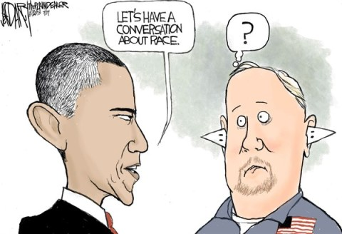 Jeff Darcy - The Cleveland Plain Dealer - Obama's conversation on race - English - Trayvon Martin, George Zimmerman