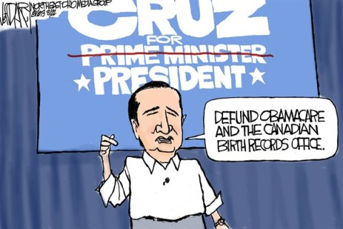 Jeff Darcy - The Cleveland Plain Dealer - Ted Cruz birther problem - English - Ted Cruz