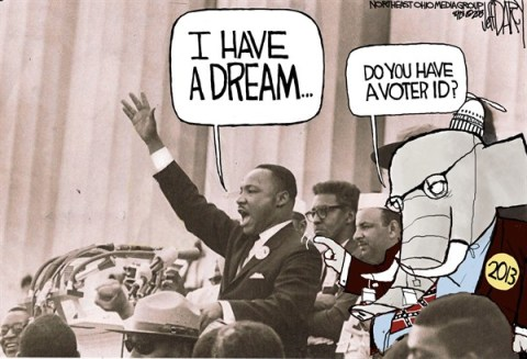 Jeff Darcy - The Cleveland Plain Dealer - MLK dream  GOP nightmare - English - Martin Luther King Jr, March on Washington, Voter ID