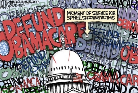 Jeff Darcy - The Cleveland Plain Dealer - Defunding  Obamacare - English - Obamacare, Navy Yard shooting
