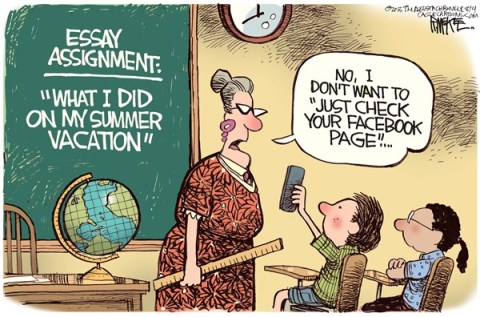Rick McKee - The Augusta Chronicle - Back to School Color - English - back to school, Facebook