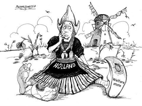 Petar Pismestrovic - Kleine Zeitung, Austria - Obsolate - English - Holland, Crisis, Money, Welfare State, Politic, Poverty,