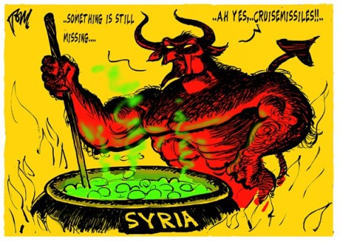 Tom Janssen - The Netherlands - devils recipe Syria - English - Syria, chemical warfare, cruisemissiles,
