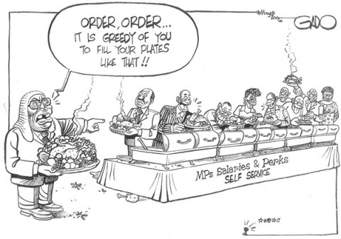 141249 600 MPs Salaries and Perks SELF SERVICE cartoons