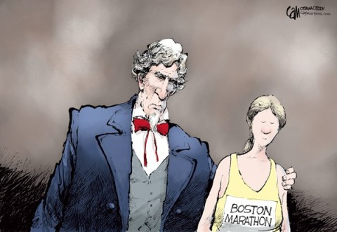 Cardow - The Ottawa Citizen - Comfort COLOR - English - Boston,marathon,bomb,bombing,tragedy,terrorism,sorrow,comfort,American,America, boston marathon