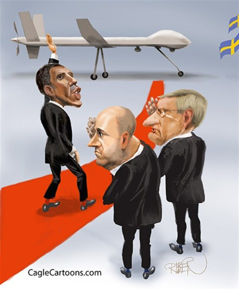 Riber Hansson - Sydsvenskan - King of Drones - English - obama,drones,king,red line