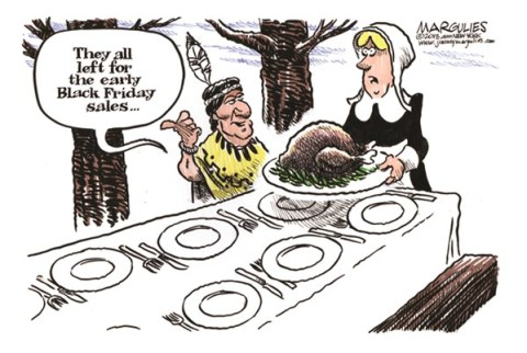 Jimmy Margulies - The Record of Hackensack, NJ - Early Black Friday sales color - English - Black Friday, Thanksgiving, Christmas shopping, First Thanksgiving