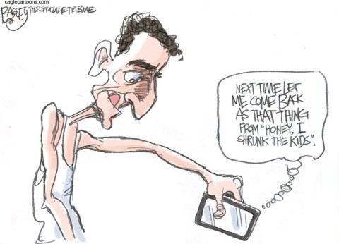 Pat Bagley - Salt Lake Tribune - Weiner's Smart Phone - English - Weiner, Anthony Weiner, Smart Phone, Sex, Sexting, Scandal, New York