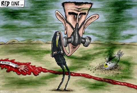 Brian Adcock - The Scotland - Red Line - English - red line, Syria, red line in the sand, chemical weapons,Bashar al-Assad , assad, civil war, arab spring,