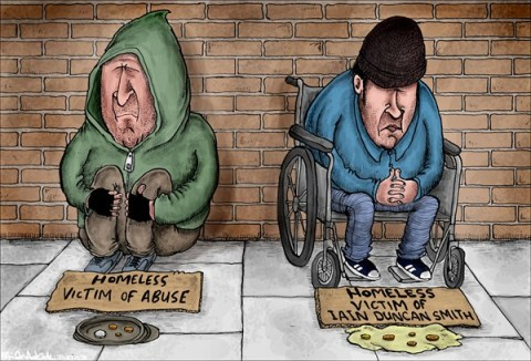 Brian Adcock - The Scotland - Changes to Welfare - English - welfare, conservatives, Tories, disabled, bedroom tax, Iain Duncan smith, welfare changes, UK, Britain, homeless,