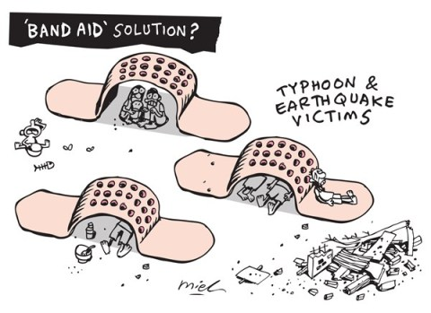 Deng Coy Miel - Singapore - bandAID - English - relief, aid, typhoon,earthquake, tragedy
