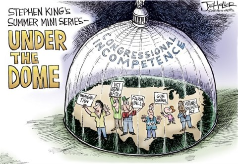 Joe Heller - Green Bay Press-Gazette - Under the Dome - English - under the dome, congress, farm bill, immigration, rights, jobs, king