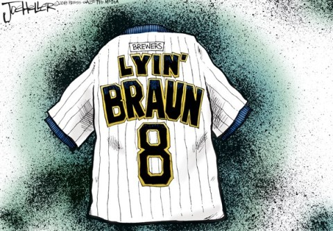 Joe Heller - Green Bay Press-Gazette -  - English - Milwaukee Brewer Ryan Braun, steroids, mlb