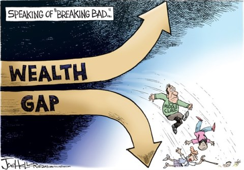 Joe Heller - Green Bay Press-Gazette - Wealth Gap - English - Wealth Gap, 1, breaking bad, middle class
