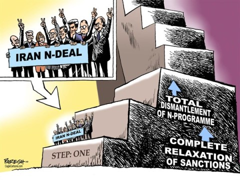 Paresh Nath - The Khaleej Times, UAE - Iran Nuclear deal COLOR - English - Iran, nuclear programme, nuclear deal, western nations, USA, France, Russia, Europe, Geneva accord, relaxation of sanctions, dismantlement of nuke, NPT, non-proliferation